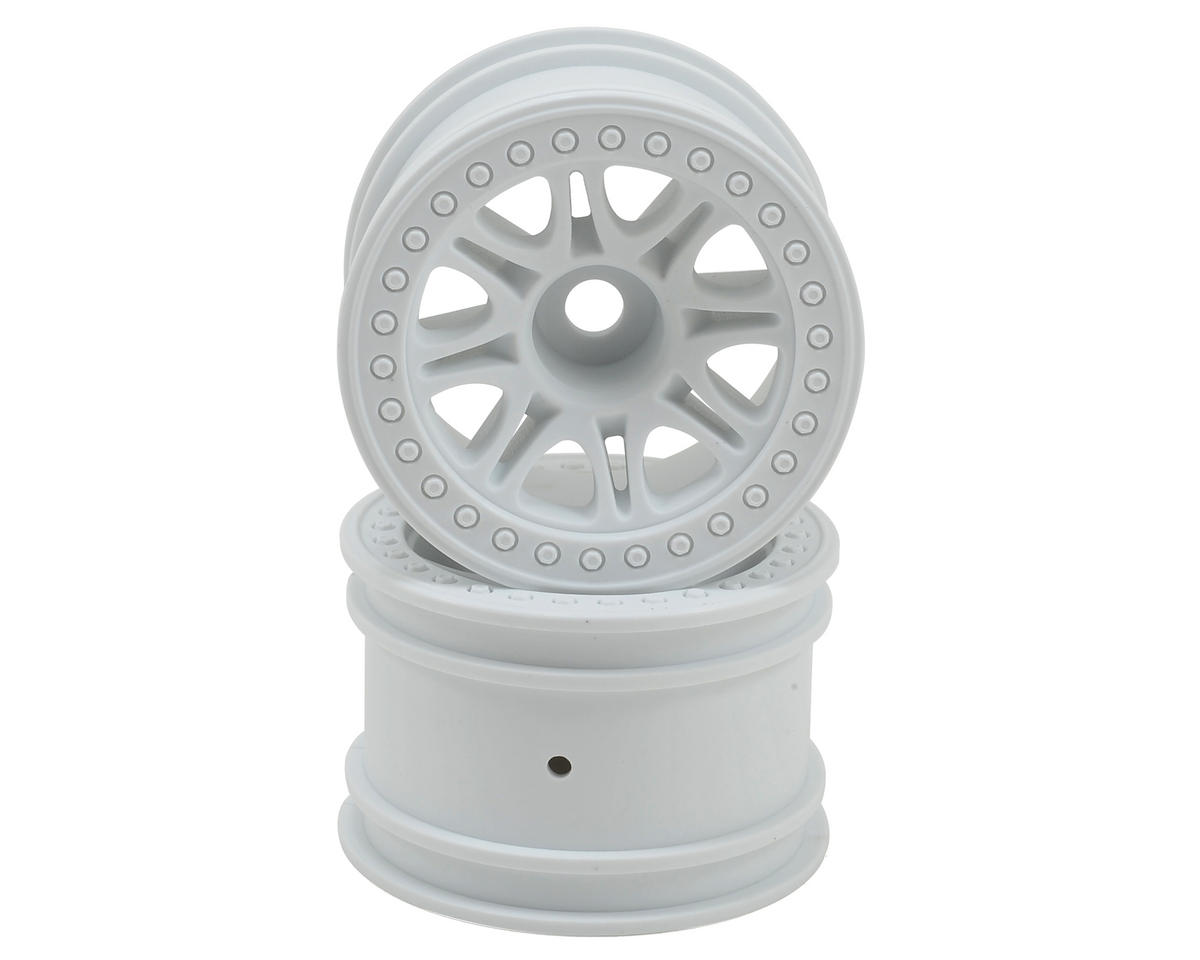 HPI Split 8 Truck Wheel (2) (White)