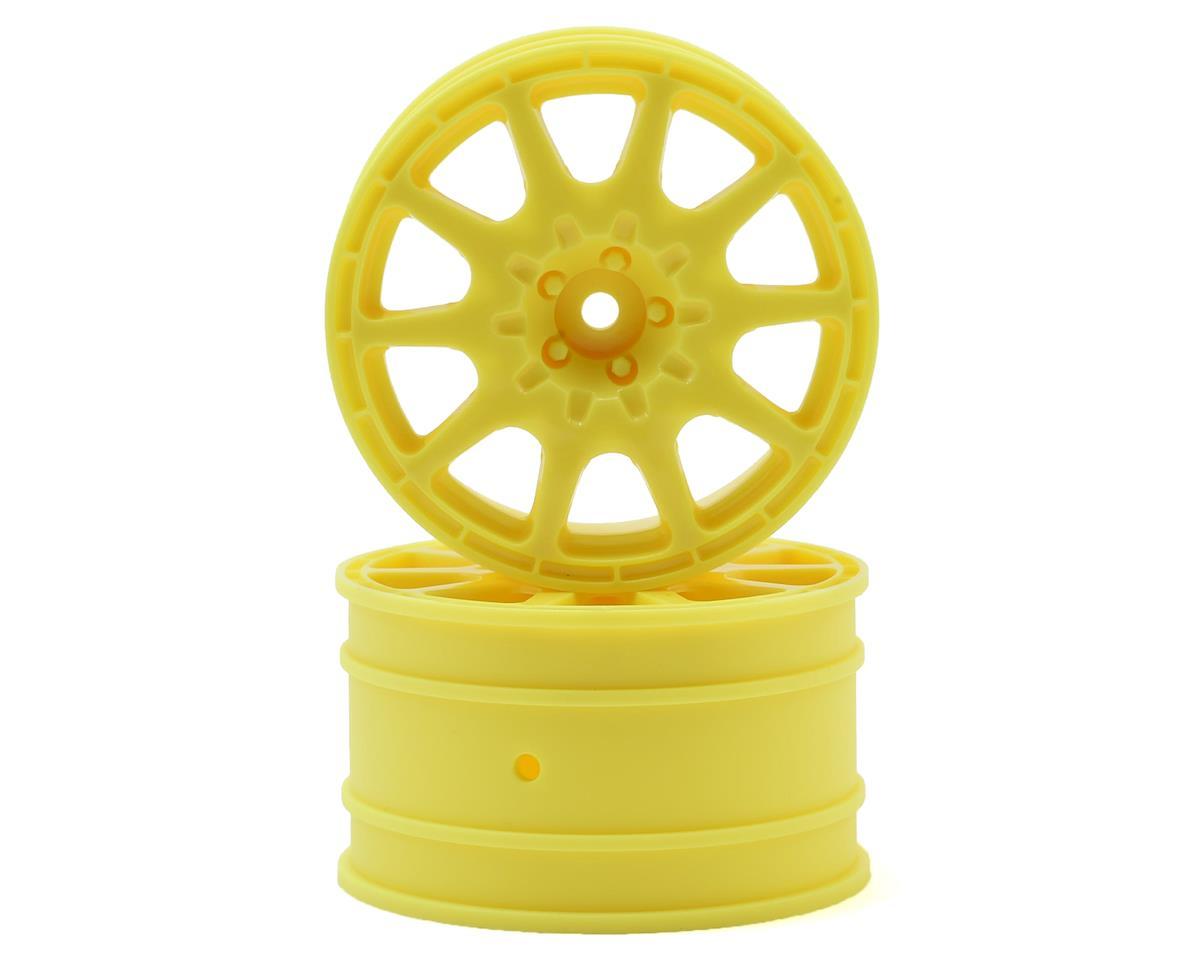 HPI WR8 Flux 12mm Hex 35mm Method 1/10 Rallycross Rally Wheel (Yellow) (2)