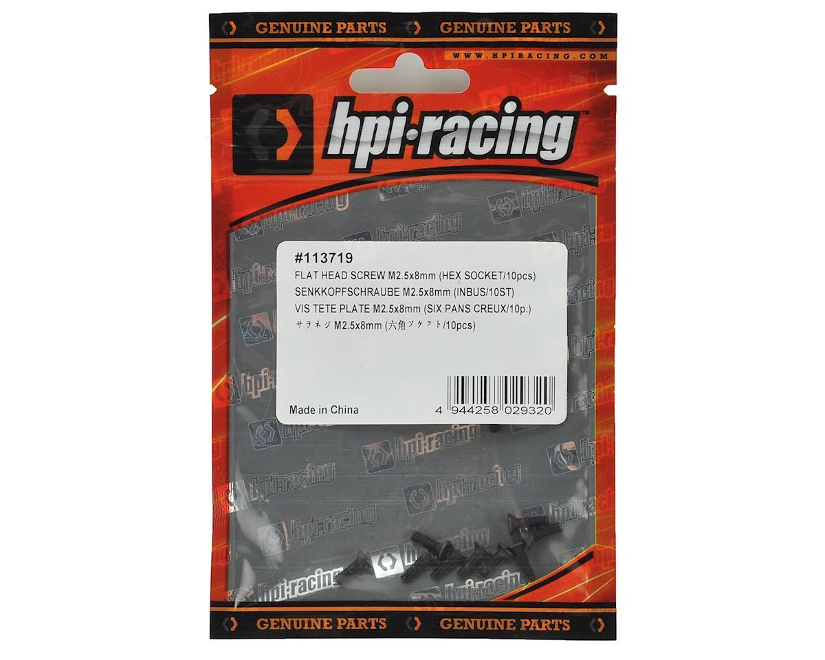 2.5x8mm Flat Head Screw (10) by HPI