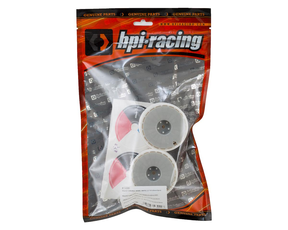 "HPI 2.2""/57x35mm fifteen52 Turbomac Wheel (White) (2)"