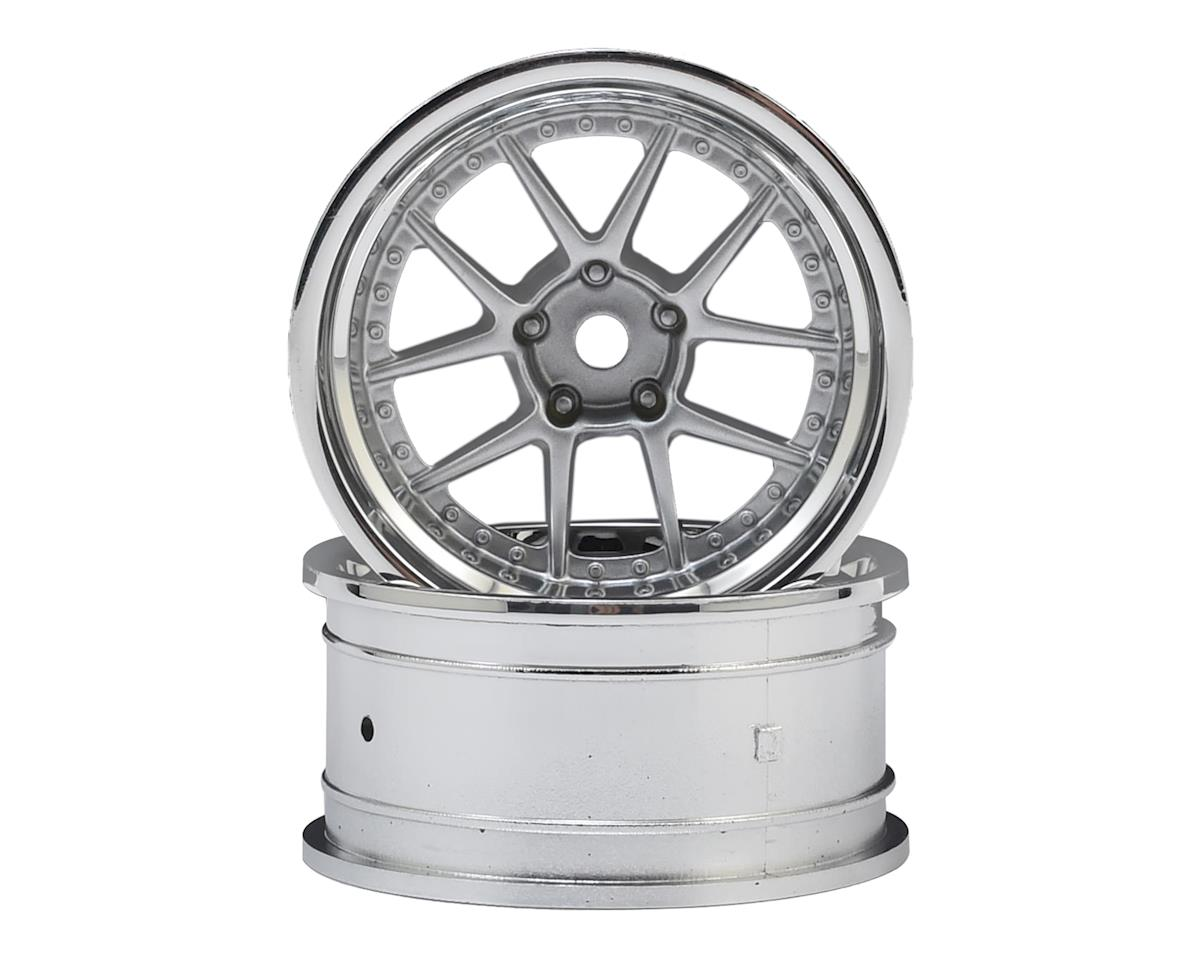 HPI 26mm DY-Champion 1/10 TC Drift Wheel (Chrome/Silver) (2) (9mm Offset)