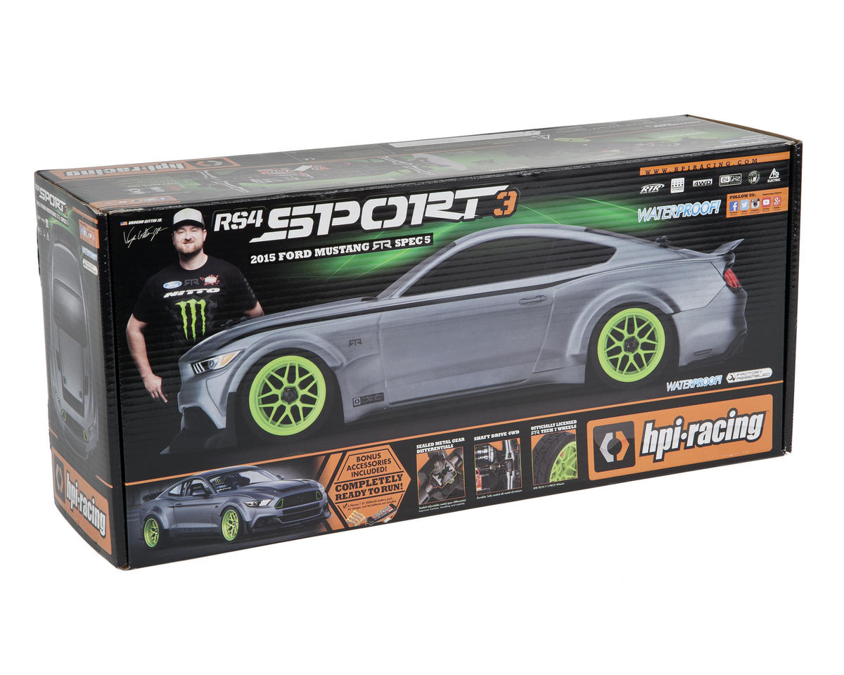 Image 7 for HPI RS4 Sport 3 RTR w/2015 Ford Mustang Body & 2.4GHz Radio System