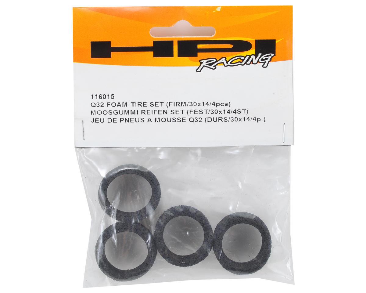 HPI D8T Q32 Foam Tire Set (Firm) (4) (30x14mm)