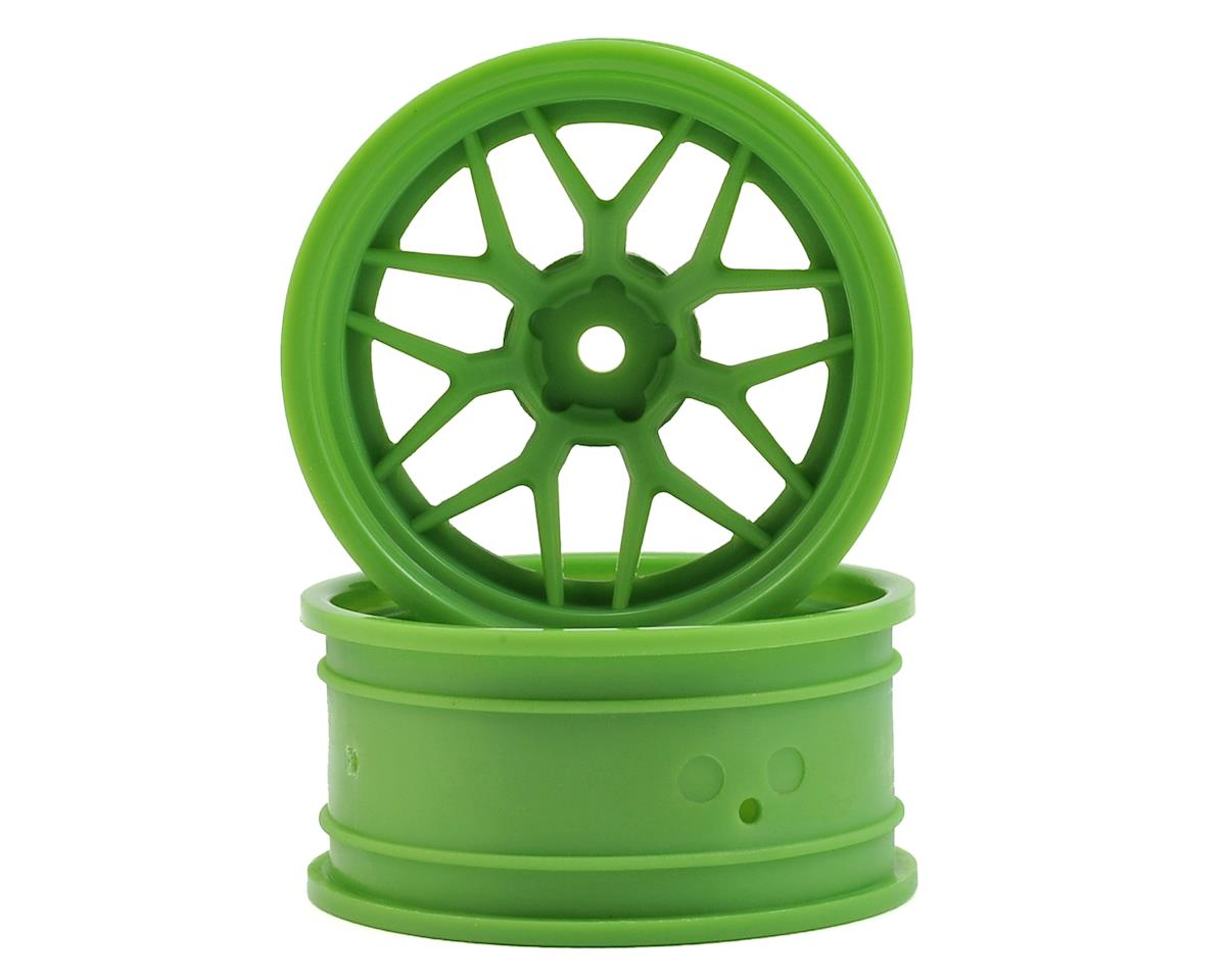 12mm Hex 52x26mm Tech 7 1/10 Wheel (Green) (6mm Offset) (2) by HPI