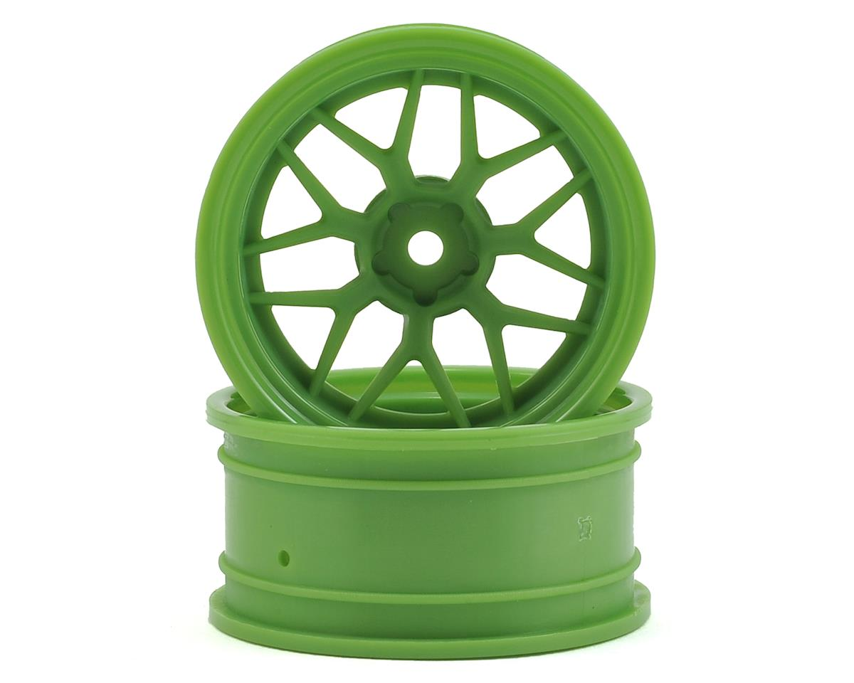 HPI Sprint 3 12mm Hex 52x26mm Tech 7 Wheel (Green) (2) (+9mm Offset)