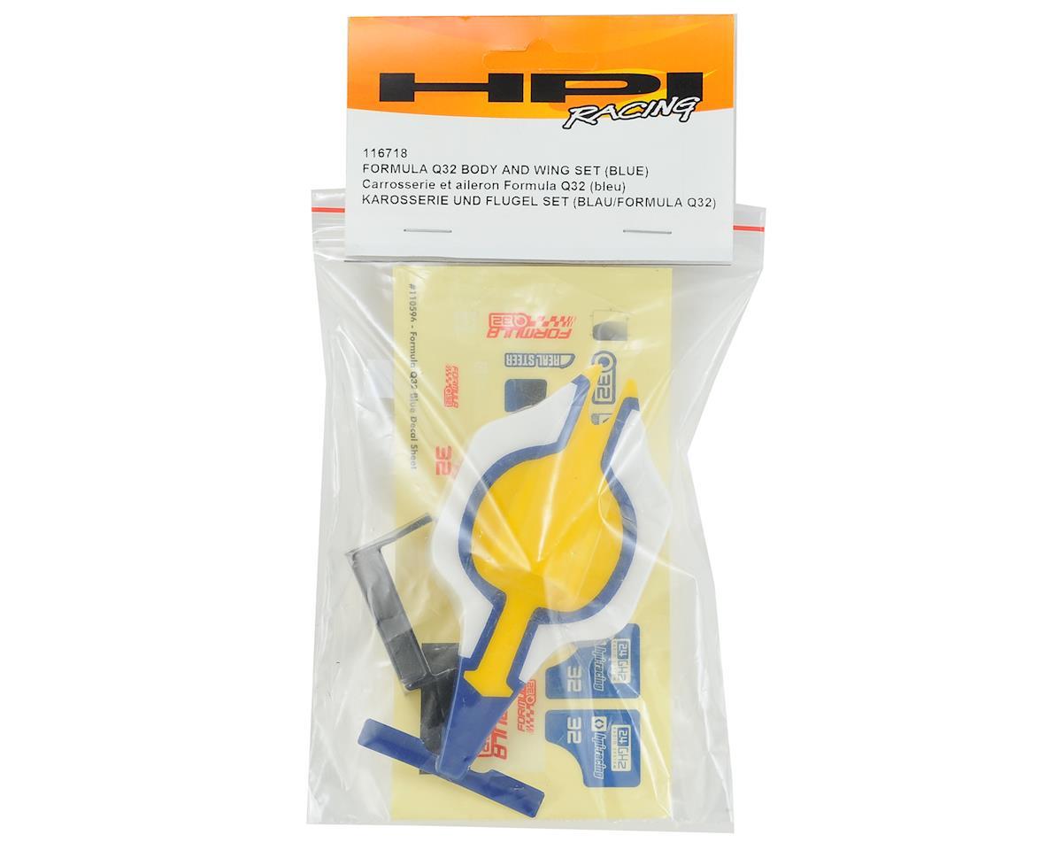 HPI Q32 Formula 1 Body Set w/Wing (Blue)