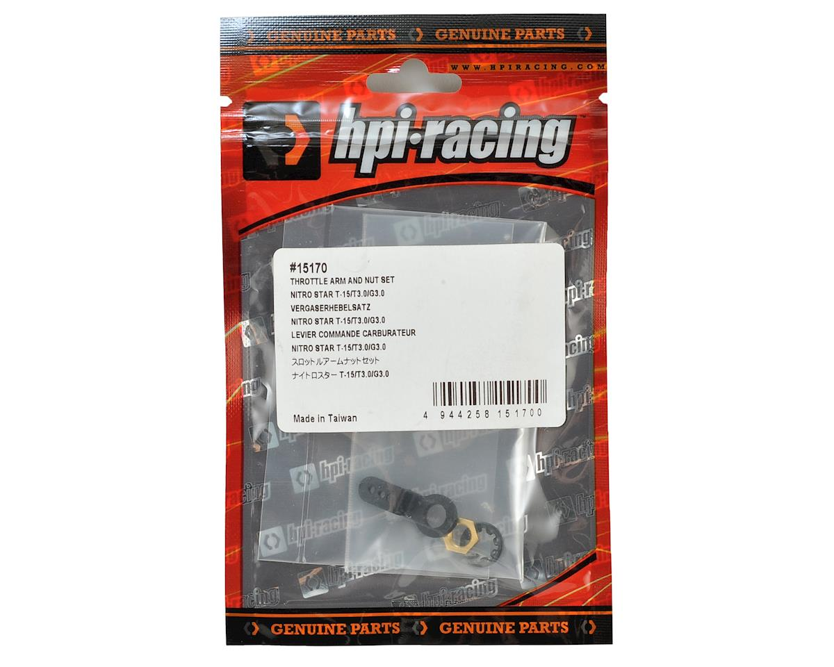 HPI T15 Throttle Arm/Nut Set