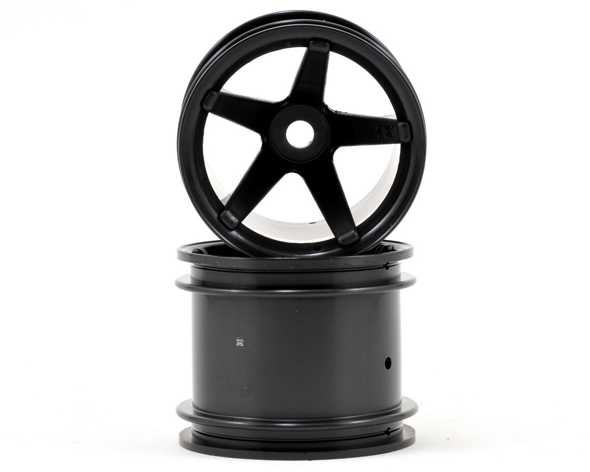 HPI Racing Wheely King Super Star 2.2 Truck Wheel (2) (Deep Offset) (Black)