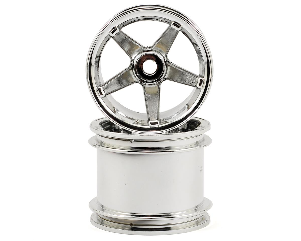 "HPI Racing Super Star 2.2"" Truck Wheel w/Universal Adapter (2) (Deep Offset) (Chrome)"
