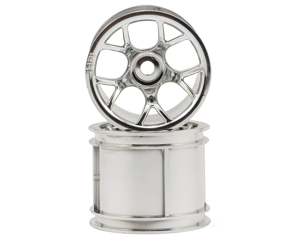 "HPI Firestorm 10T MT Mesh 2.2"" Truck Wheel w/Universal Adapter (2) (Chrome)"