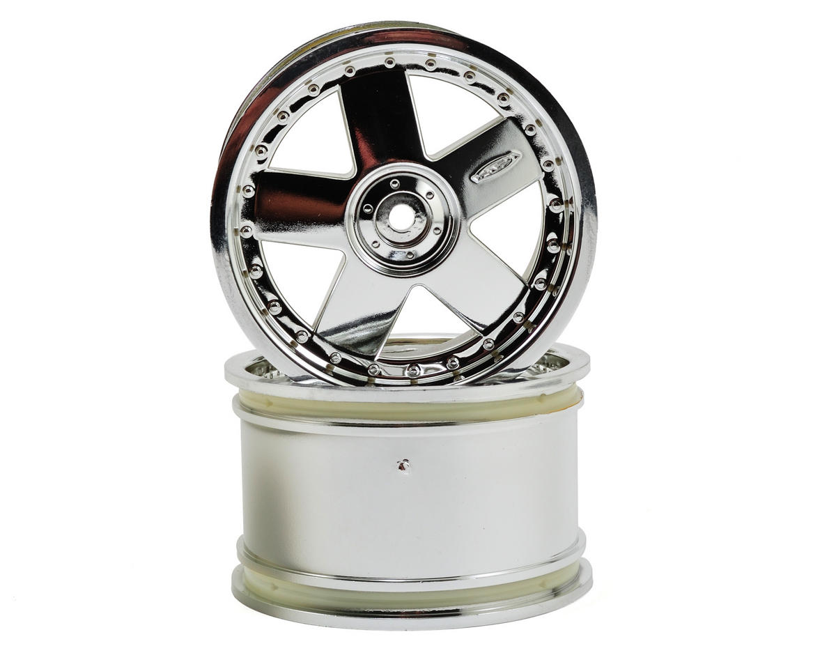HPI Racing GT 5 Wheel (2) (83x56mm) (Chrome)