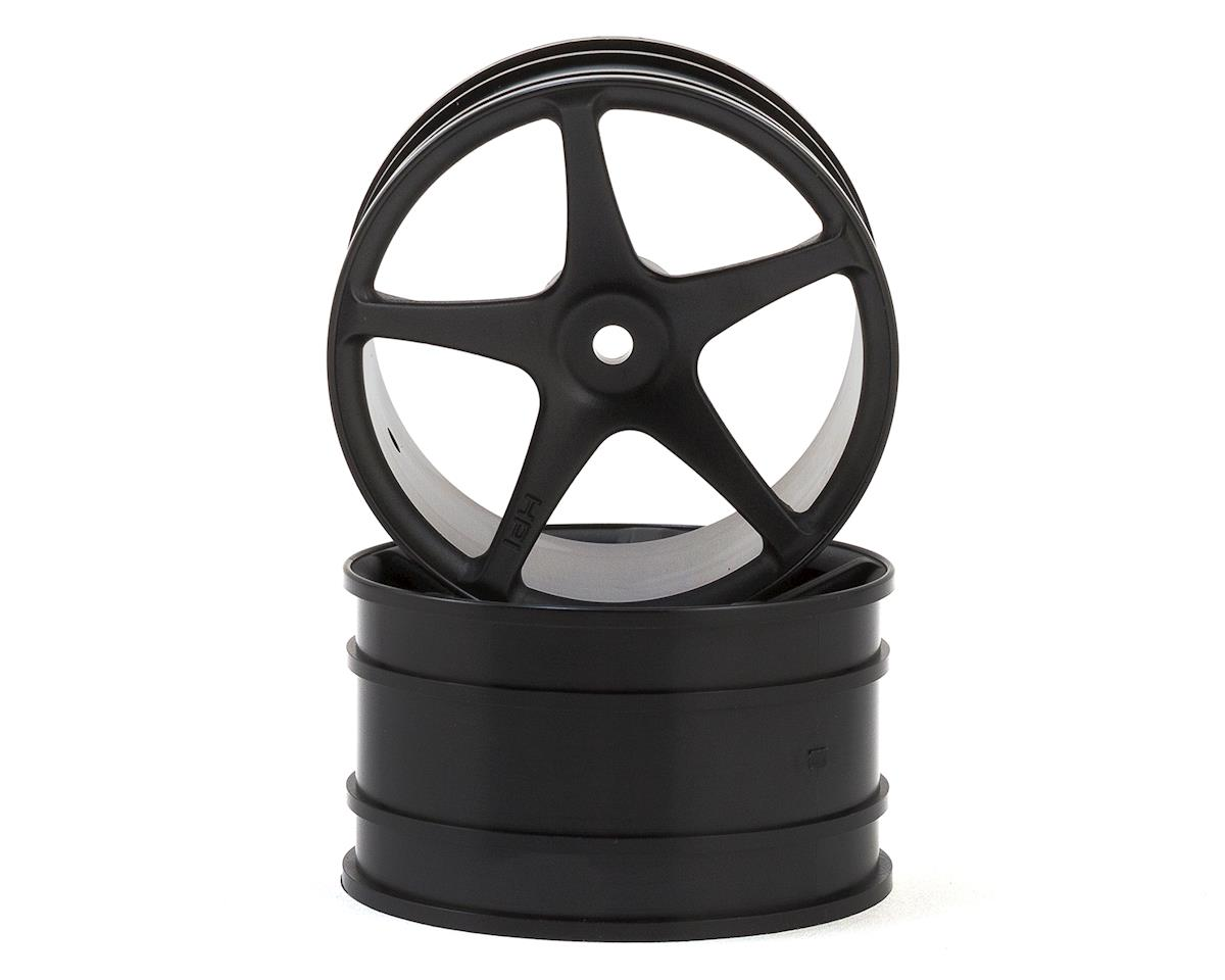 HPI WR8 Flux 12mm Hex 57x35mm Super Star Wheel (Black) (2)