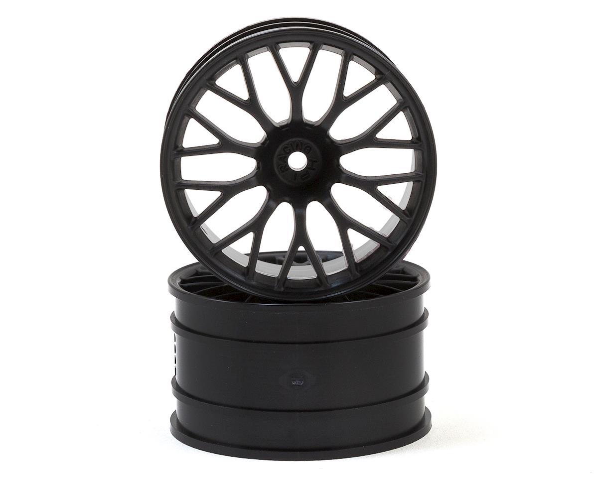 HPI 12mm Hex 57x35mm Super Nitro Mesh Wheels (Black) (2)