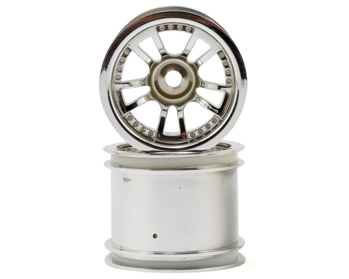 "HPI Racing Savage XS Flux Split 5 2.2"" Truck Wheel w/Universal Adapter (2) (Chrome)"