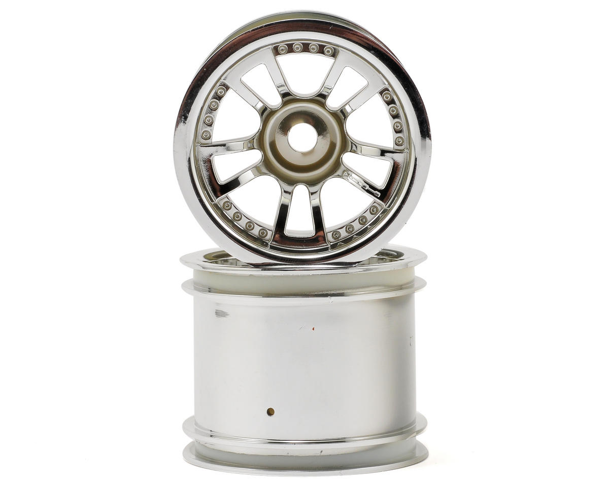 "HPI Racing Firestorm 10T Split 5 2.2"" Truck Wheel w/Universal Adapter (2) (Chrome)"