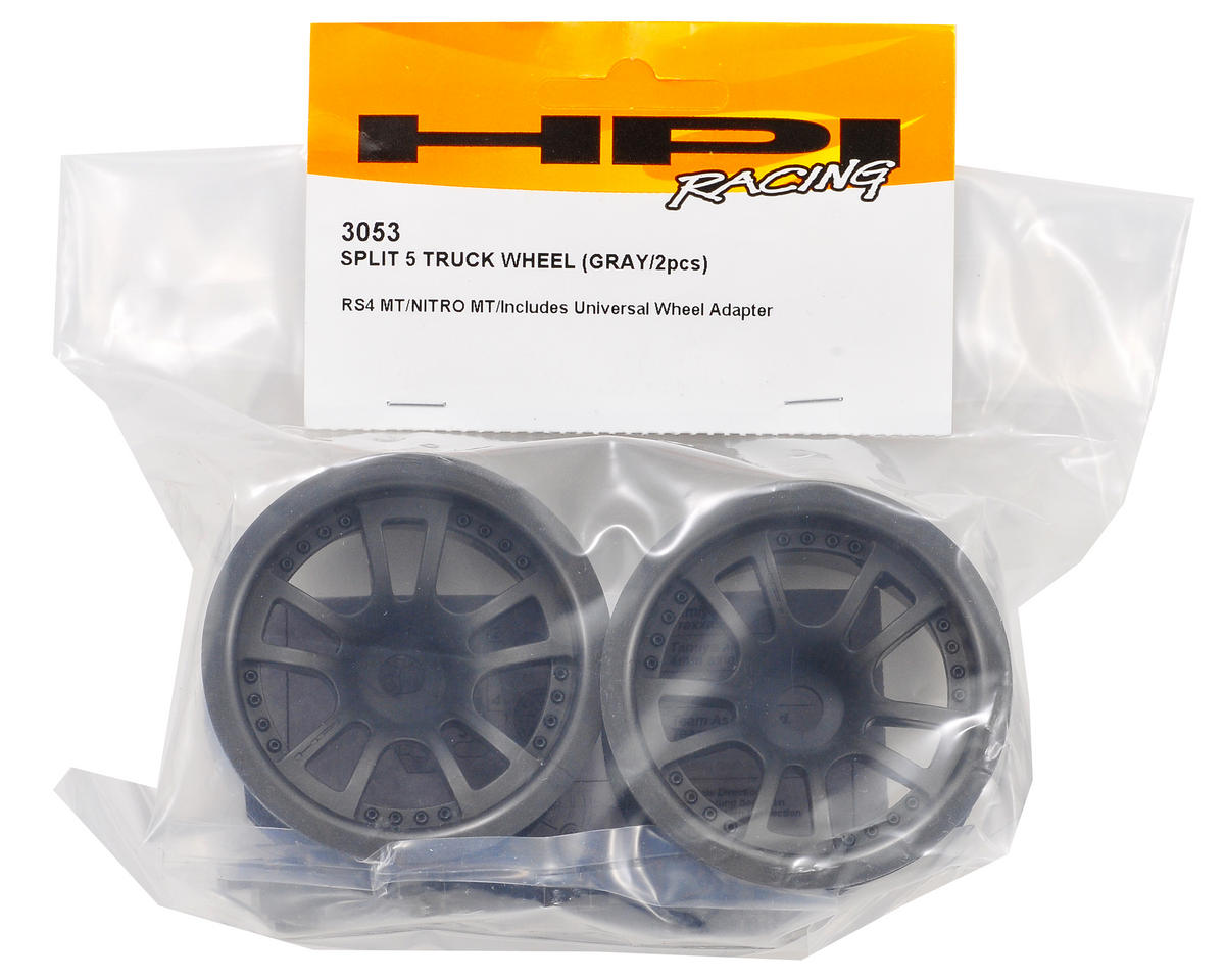 "HPI Racing Split 5 2.2"" Truck Wheel w/Universal Adapter (2) (Gray)"