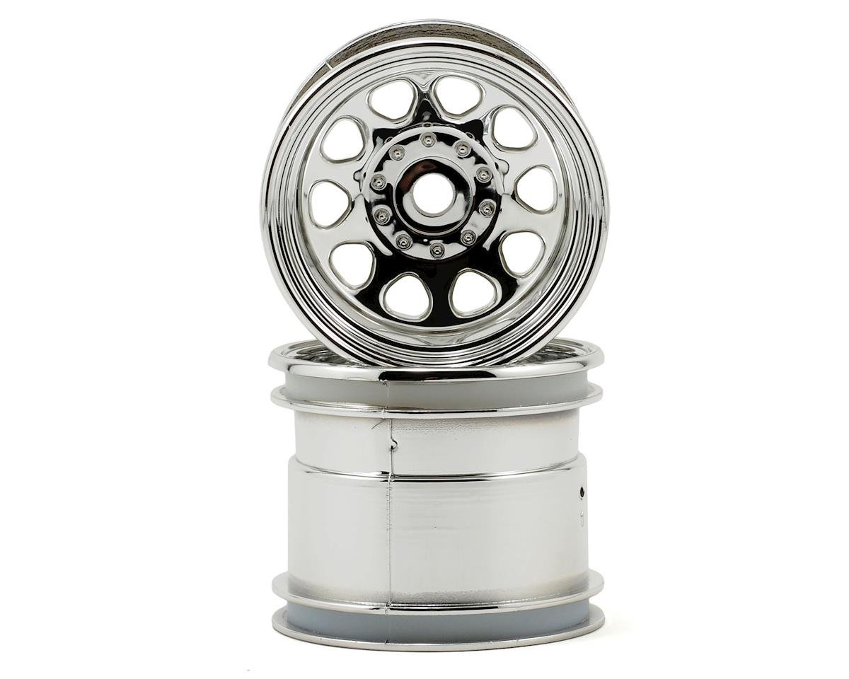 "12mm Hex Classic King 2.2"" Wheel (2) (Chrome) by HPI Nitro Firestorm 10T"