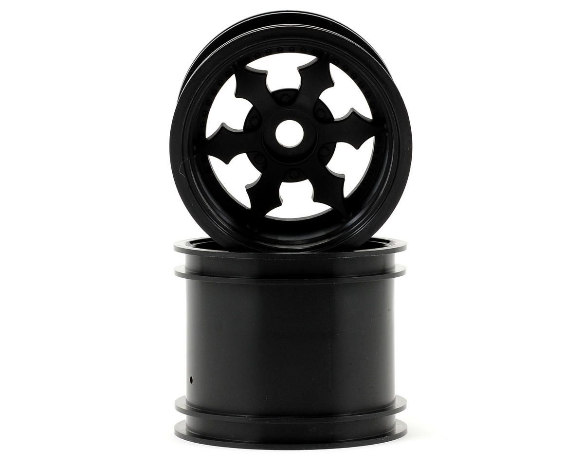 "HPI Racing Firestorm 10T Spike 2.2"" Truck Wheels w/Universal Adapter (2) (Black)"