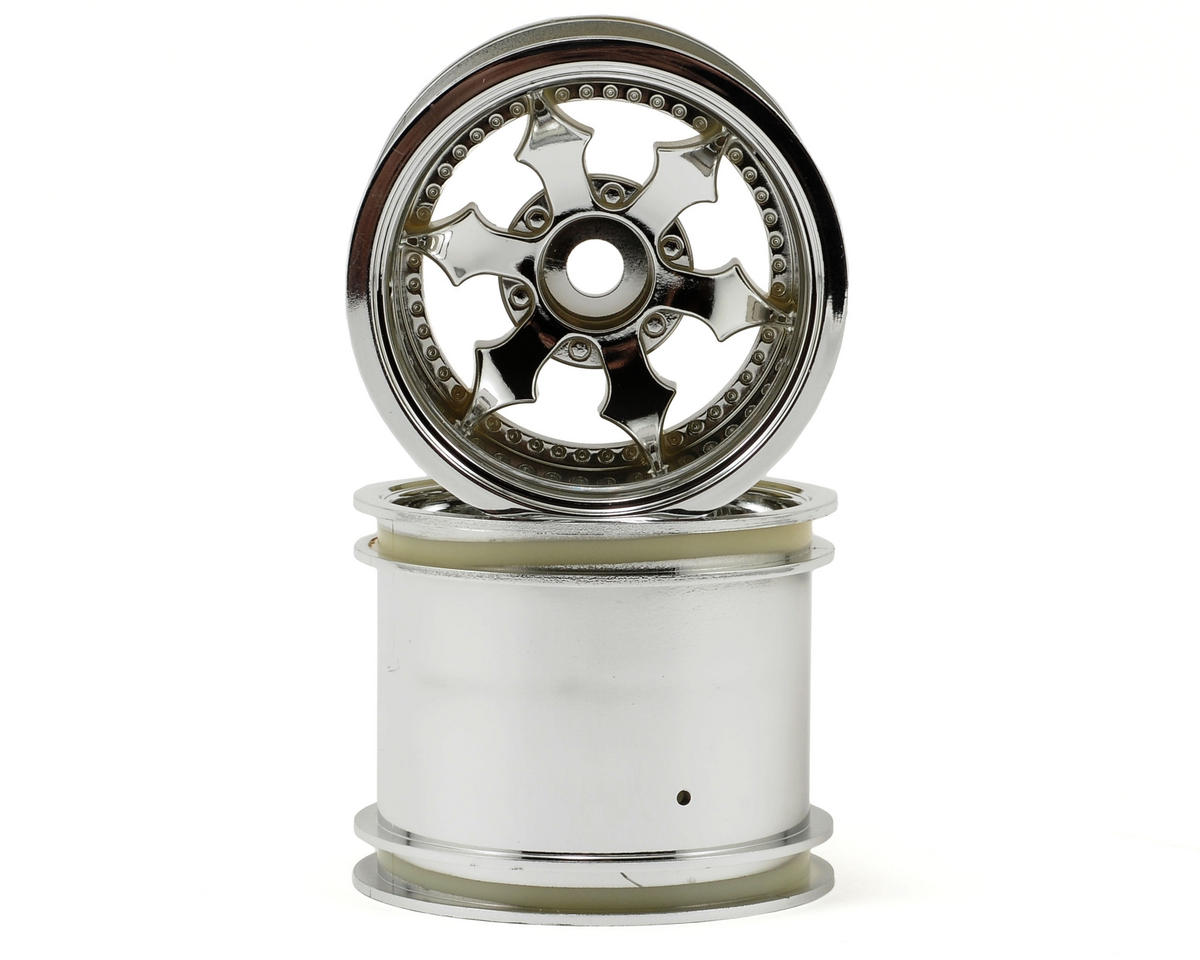 "HPI Racing Spike 2.2"" Truck Wheel w/Universal Adapter (2) (Shiny Chrome)"