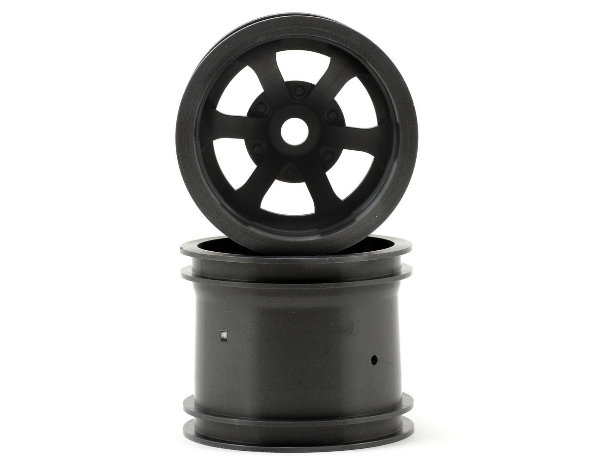 "HPI Firestorm 10T Scorch 6-Spoke 2.2"" Truck Wheels w/Universal Adapter (2) (Gun Metal)"