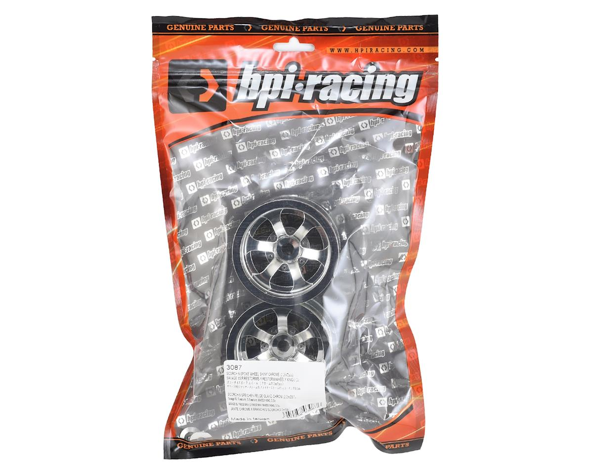 HPI Scorch 6-Spoke 2.2 Truck Wheels (2) (Shiny Chrome)