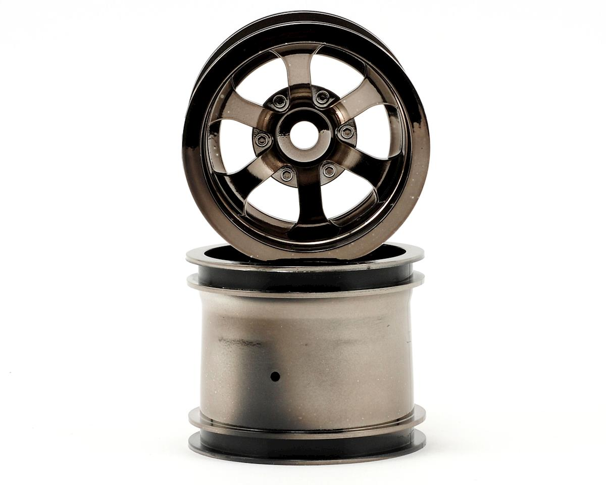 HPI Scorch 6-Spoke 2.2 Truck Wheel (2) (Black Chrome)
