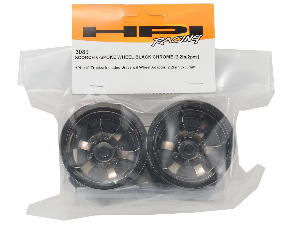 HPI Racing Scorch 6-Spoke 2.2 Truck Wheel (2) (Black Chrome)