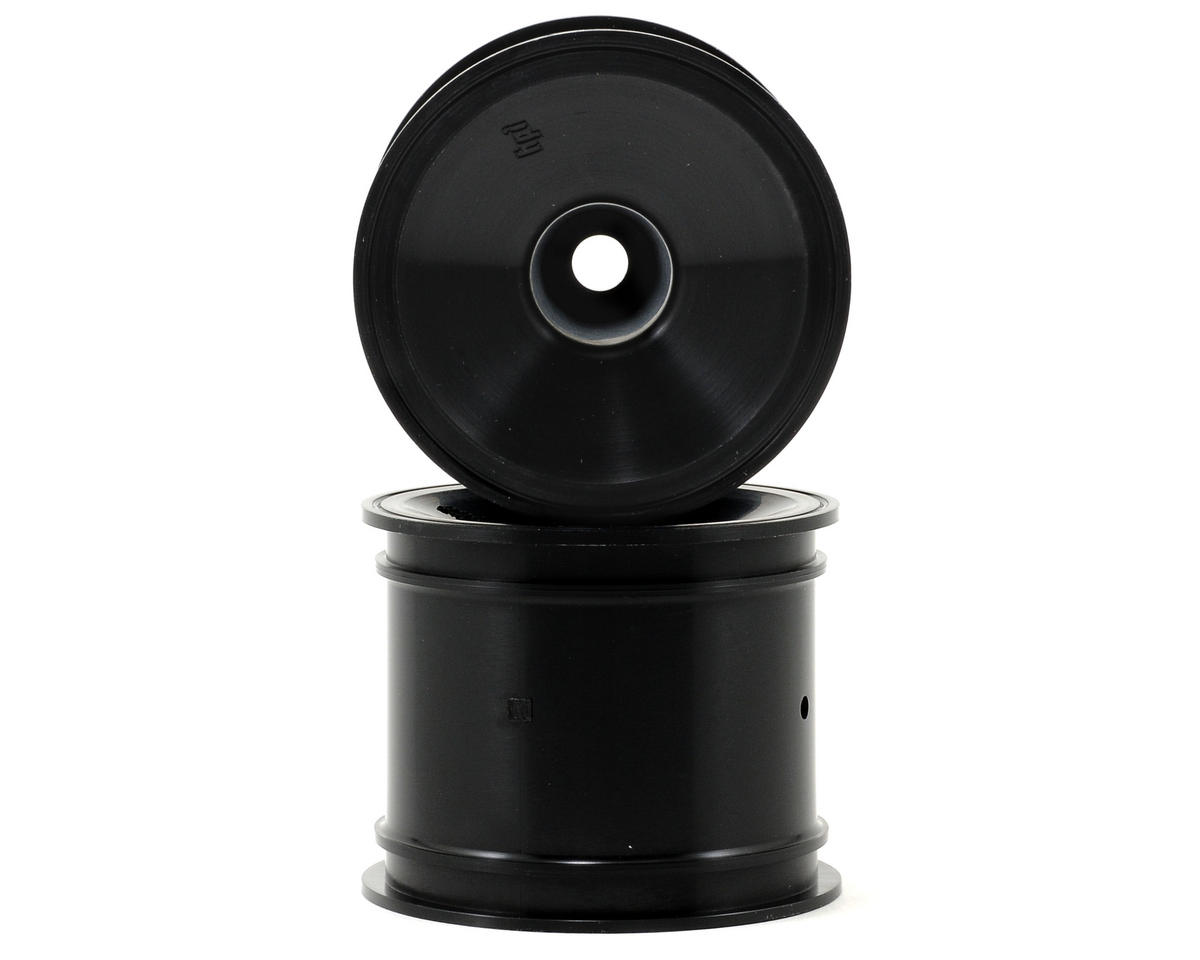"Dish 2.2"" Truck Wheel w/Universal Adapter (2) (Black) by HPI"