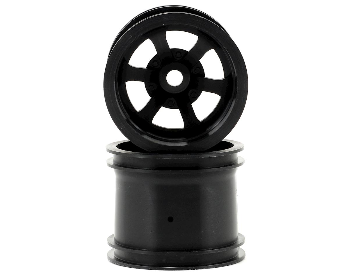 "HPI Scorch 6-Spoke 2.2"" Truck Wheels w/Universal Adapter (2) (Black)"