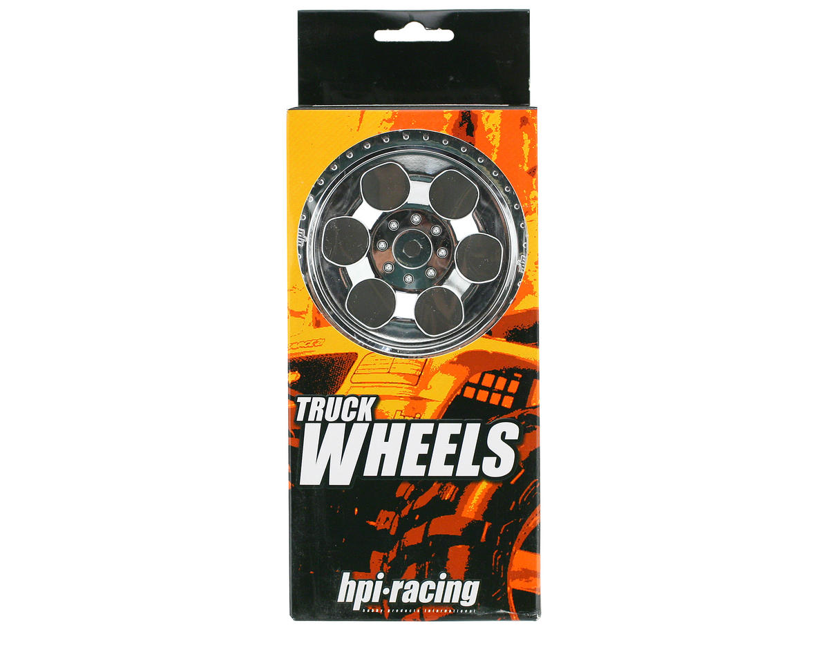 HPI Racing 6-Spoke Wheel (2) (Savage X) (Chrome)