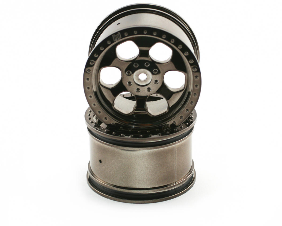HPI Racing 6-Spoke Wheel (2) (Savage X) (Black Chrome)