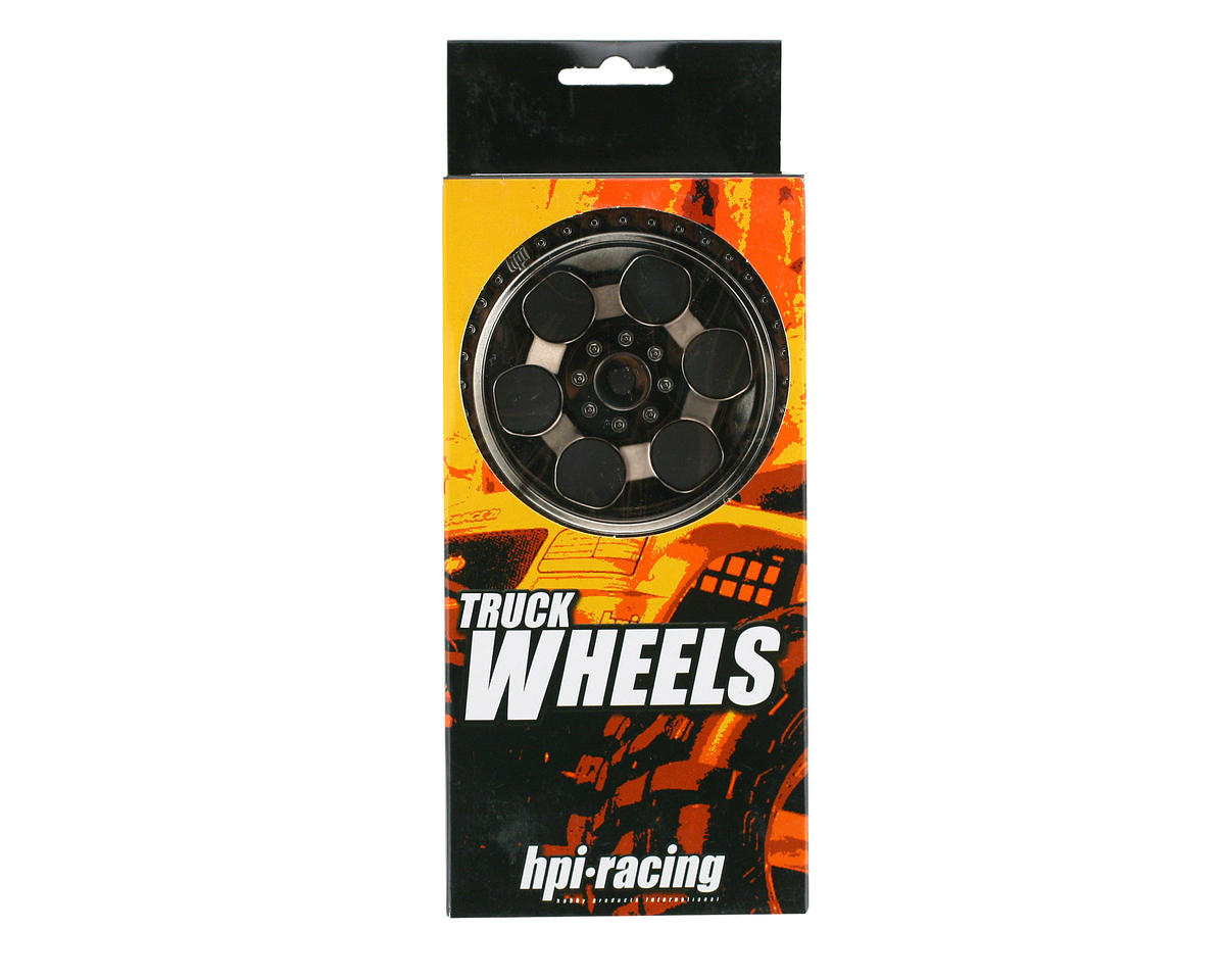 HPI Racing 6-Spoke Wheel (2) (Savage X) (Black Chrome)