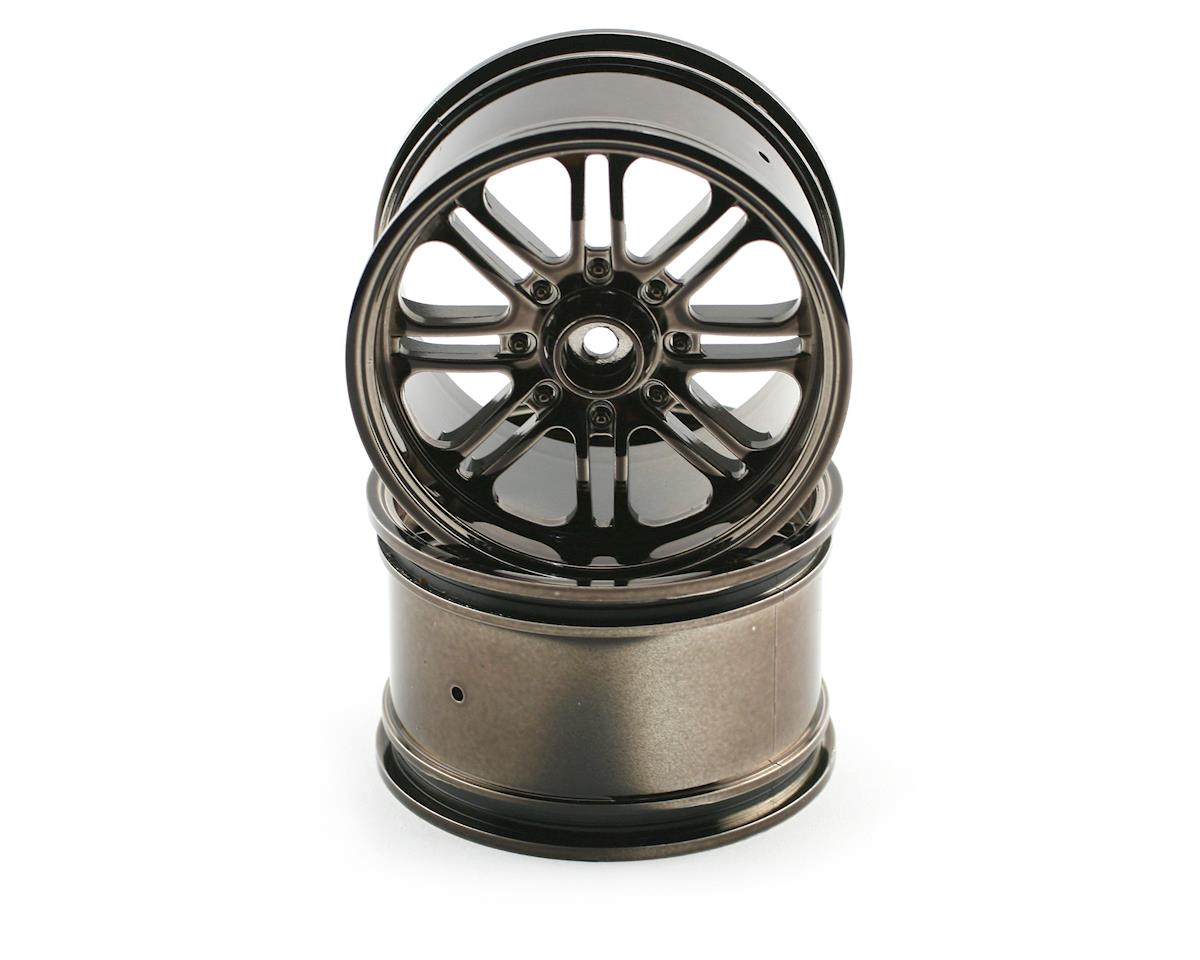 HPI Racing 8-Spoke Wheel (2) (Savage X) (Black Chrome)