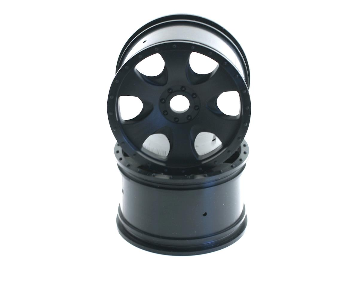 HPI Racing Warlock Spoked Standard Offset 17mm Monster Truck Wheels (2) (Black) (Thunder Tiger ST-1)