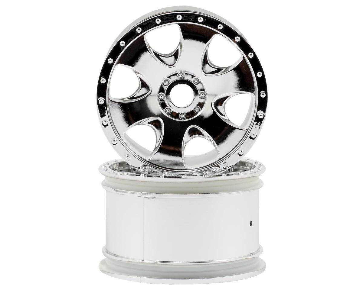 HPI Racing Warlock Spoked Standard Offset 17mm Monster Truck Wheels (2) (Chrome)