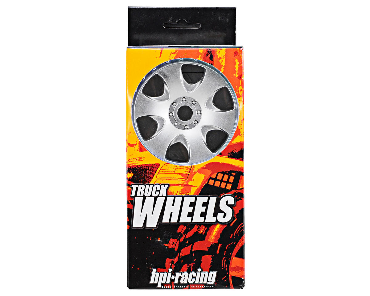 HPI Racing Warlock Spoked Standard Offset 17mm Monster Truck Wheels (2) (Matte Chrome)