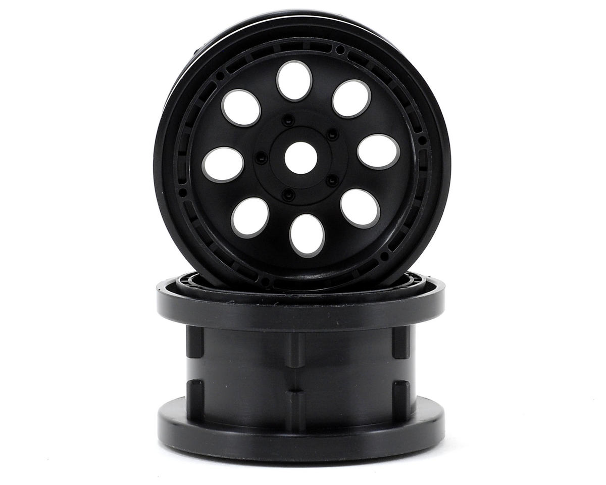 HPI Racing 55x36mm Rock 8 Beadlock Wheel (2) (Black)