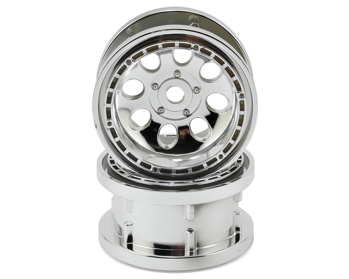 55x36mm Rock 8 Beadlock Wheel (2) (Chrome) by HPI