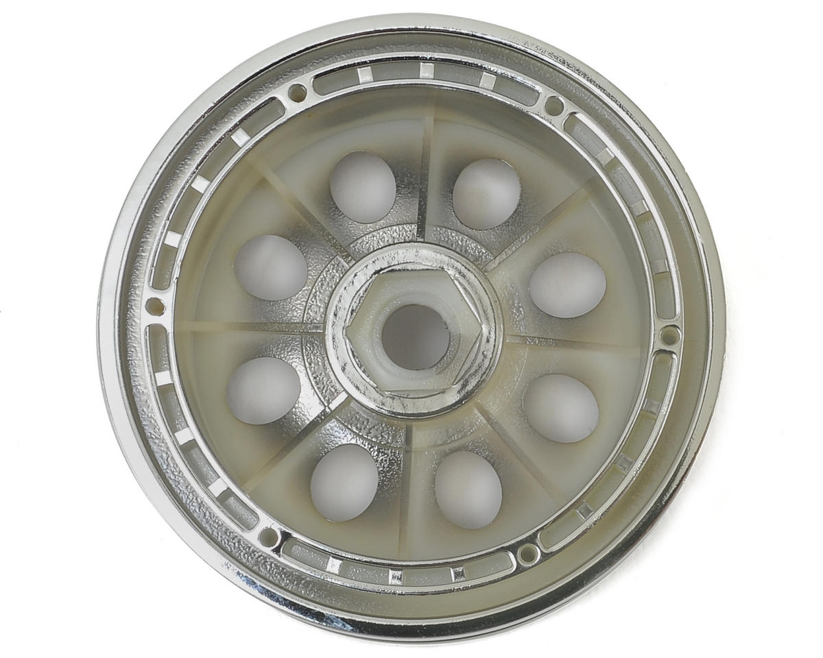 HPI 55x36mm Rock 8 Beadlock Wheel (2) (Chrome)