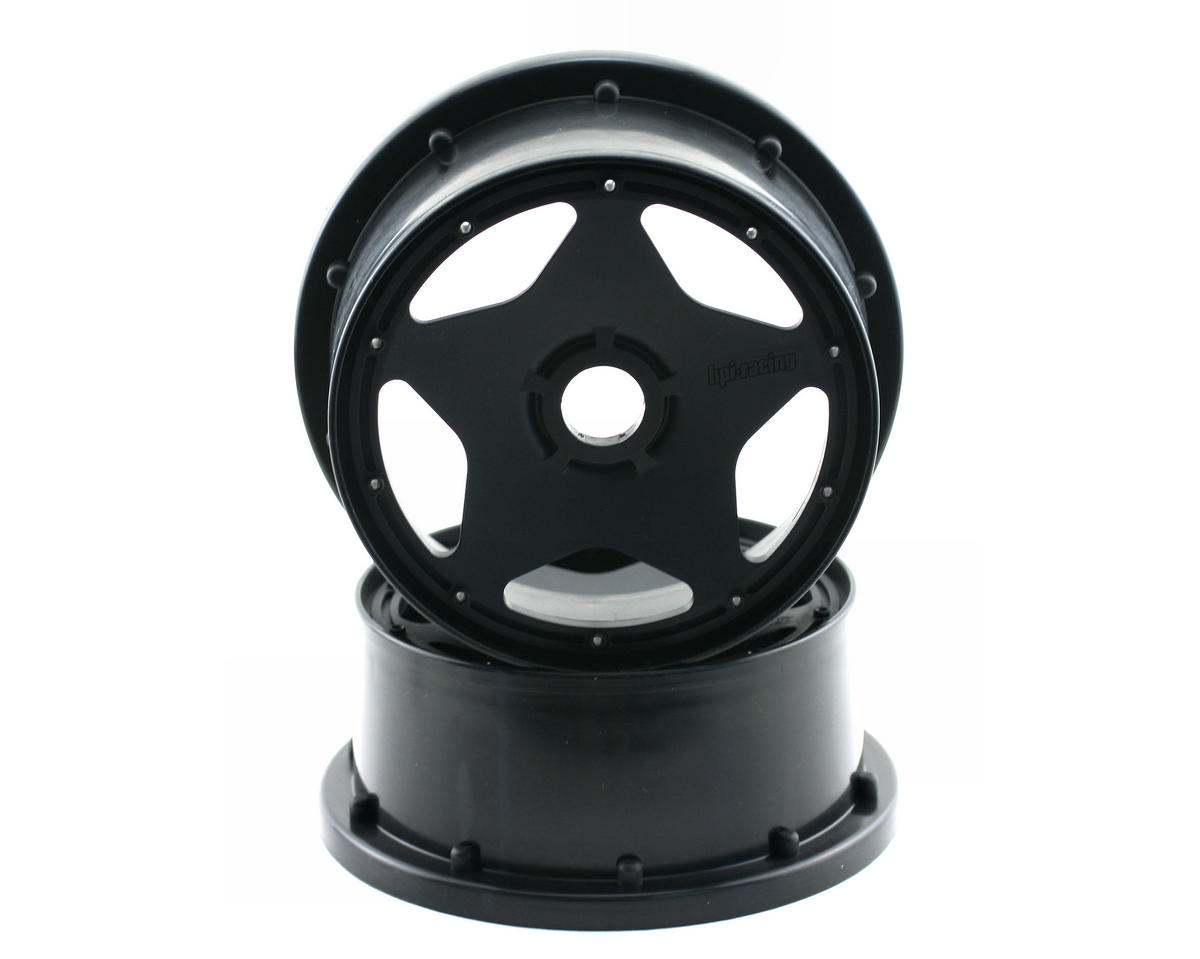 Baja 5B Super Star Front Wheel (120x60mm) (Black) by HPI