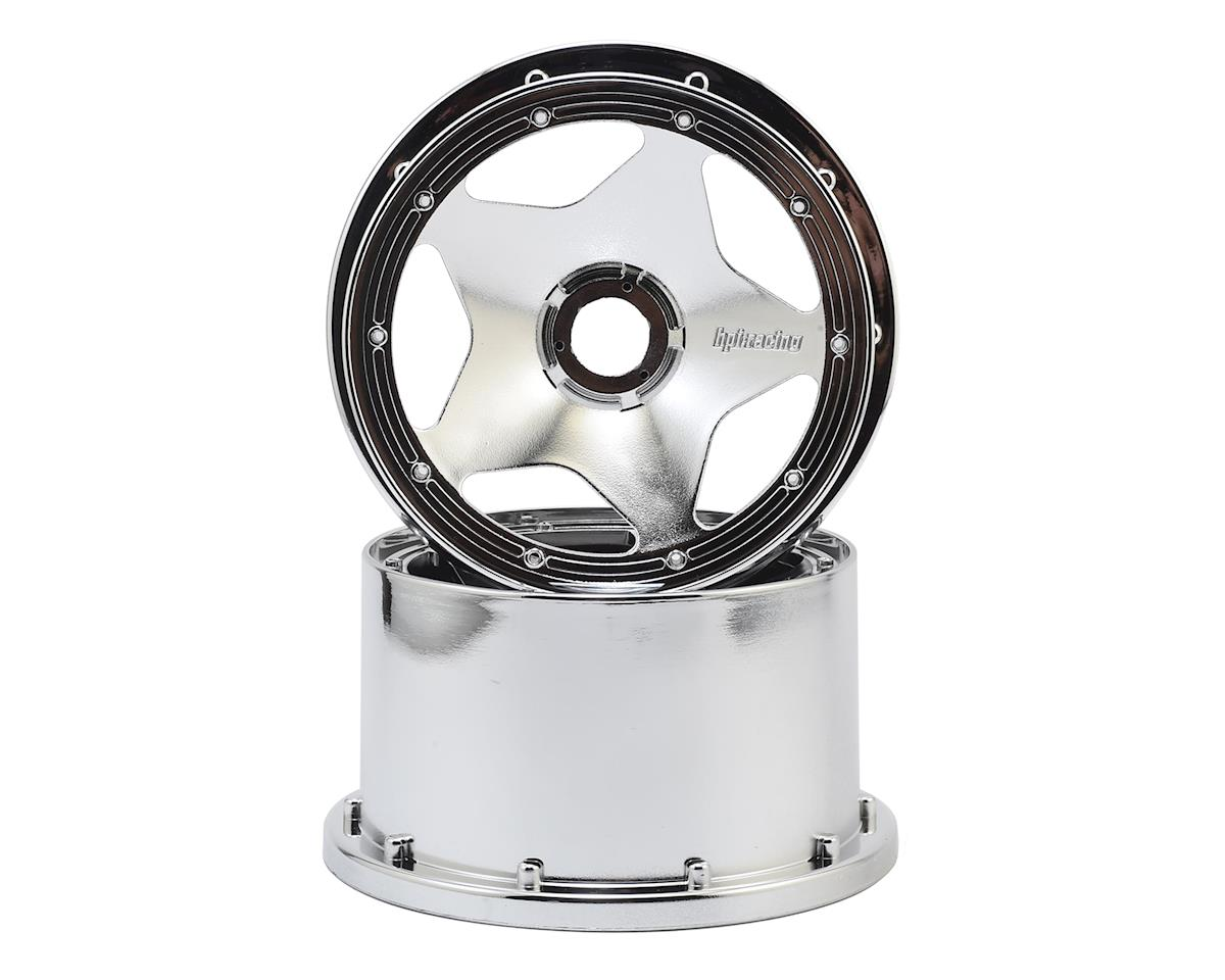 HPI 75mm Baja 5B 1/5 Rear Buggy Star Wheel (Chrome) (2)