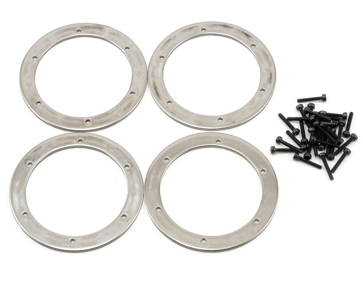 HPI Racing 6 Hole Beadlock Ring Set (Silver) (4)