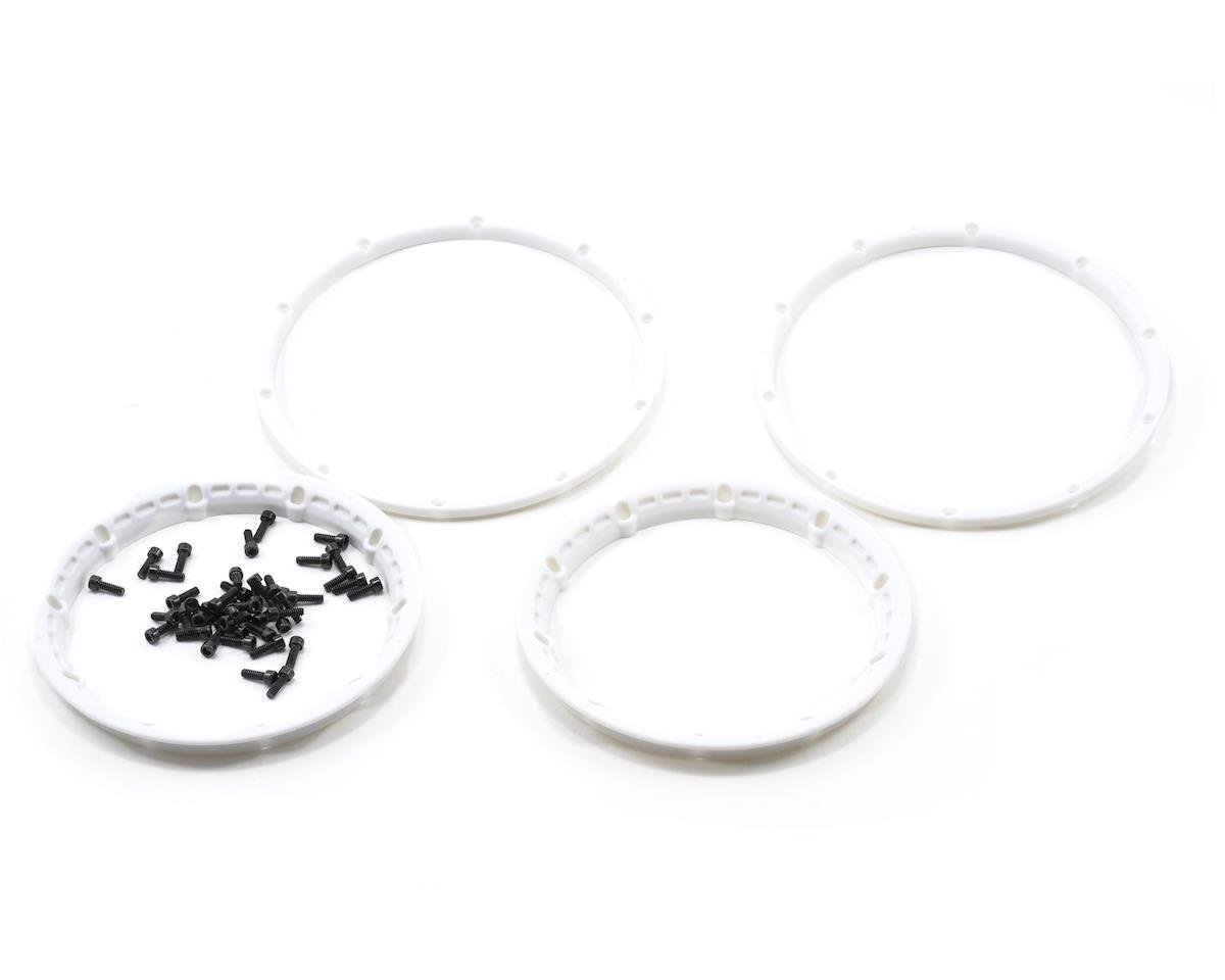 HPI Wheel Bead Lock Rings (White) (2) (Baja 5B)