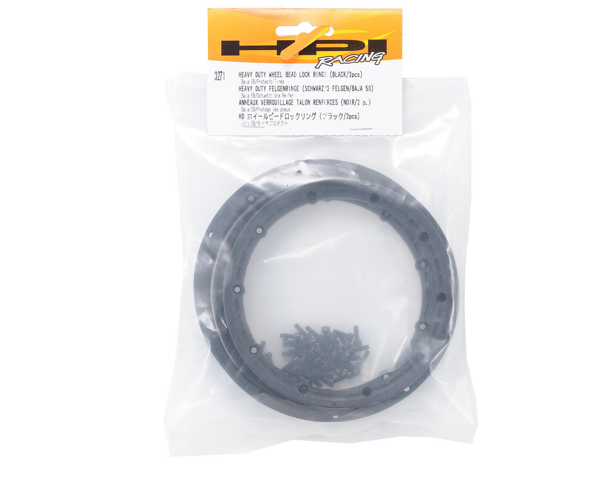 HPI Racing Wheel Beadlock Rings (Black) (2) (Baja 5B)