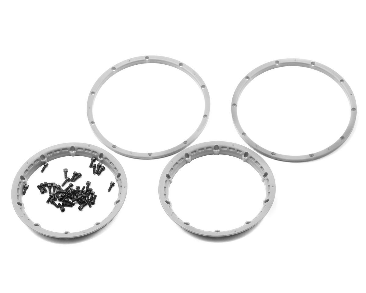 Wheel Beadlock Rings (Silver) (2) (Baja 5B) by HPI