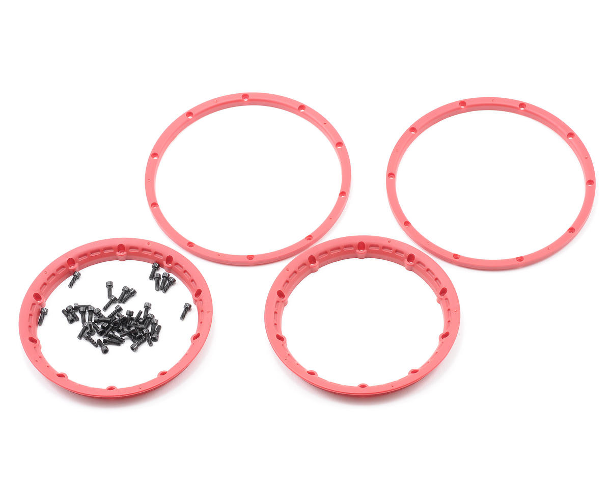 HPI Wheel Beadlock Rings (Red) (2) (Baja 5B)