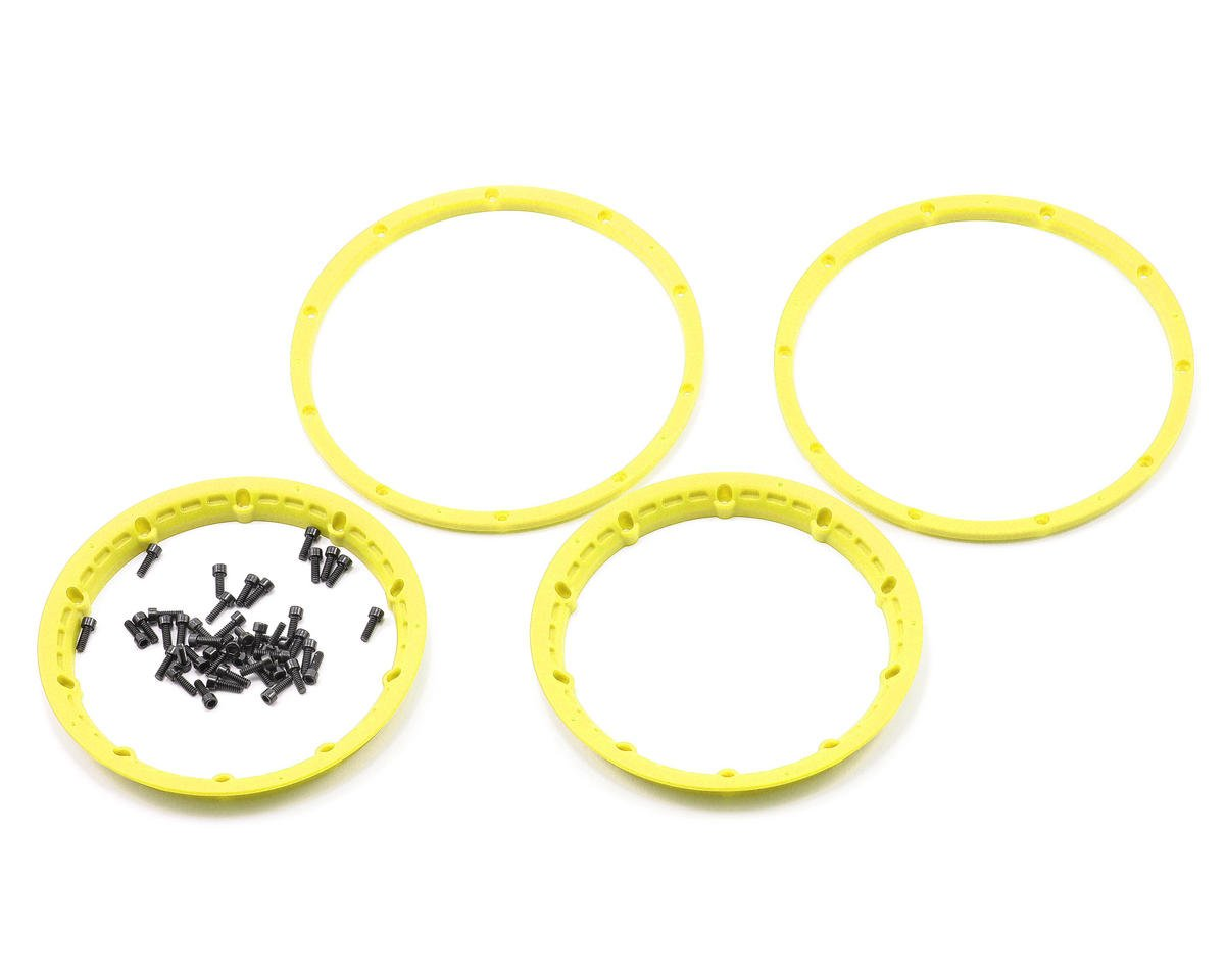 Wheel Beadlock Rings (Yellow) (2) (Baja 5B) by HPI Racing