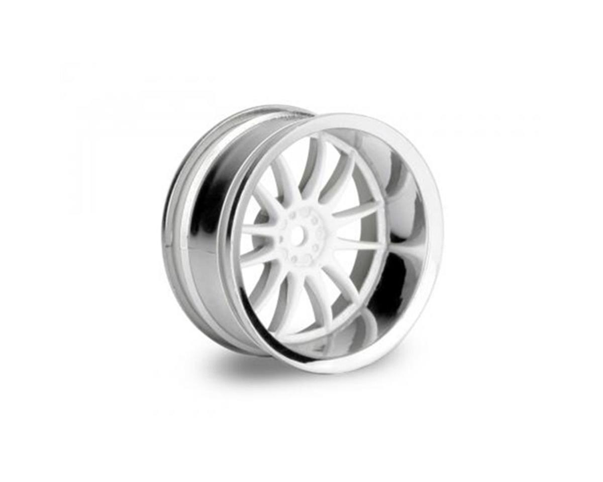 Work XSA Wheel 26mm White Chrome (2) (9mm Offset) by HPI
