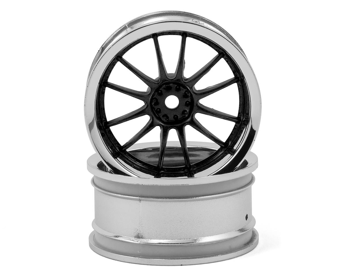 HPI RS4 Work XSA 02C 26mm Wheel (Black Chrome) (2) (3mm Offset)
