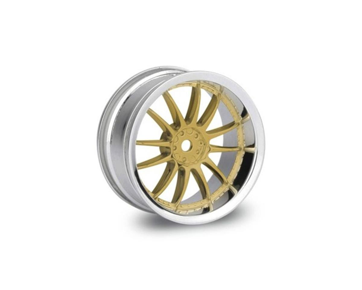 HPI Work XSA 02C Wheel 26mm, Gold Chrome (2)3mm Offset